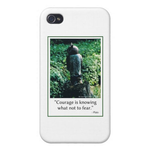 Courage in Everything iPhone 4 Cover