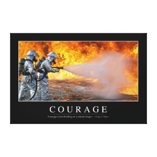 Courage: Inspirational Quote Gallery Wrapped Canvas