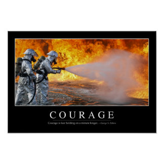 Courage: Inspirational Quote Poster