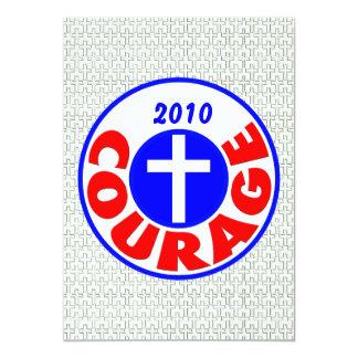 Courage 5x7 Paper Invitation Card