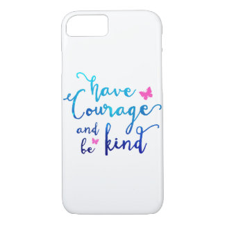 Courage & Kindness White iPhone 7 Case