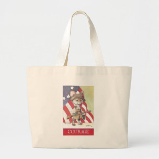 Courage mouse tote bags