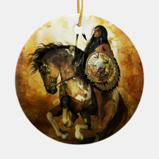Courage Native American Warrior Christmas Ornament