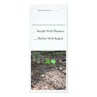 Courage of a Sapling 10 Cm X 24 Cm Invitation Card