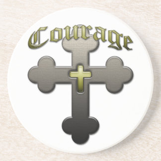 Courage - Psalm 23 Beverage Coasters