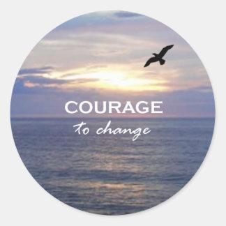 Courage To Change Round Sticker