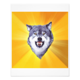 Courage Wolf Advice Animal Meme Personalized Flyer