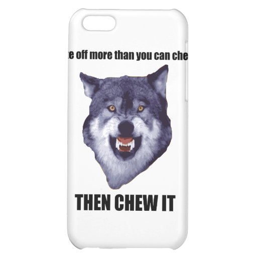 Courage Wolf Case For iPhone 5C