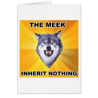 Courage Wolf Meek Inheritance Greeting Card