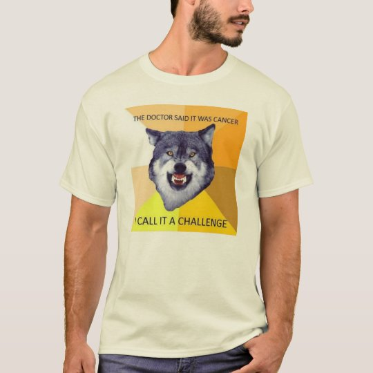 Courage Wolf on Cancer T-Shirt
