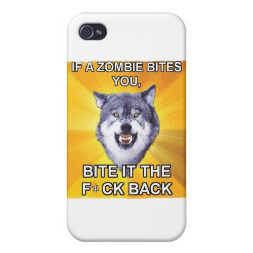 Courage Wolf Vs Zombies iPhone 4/4S Cover