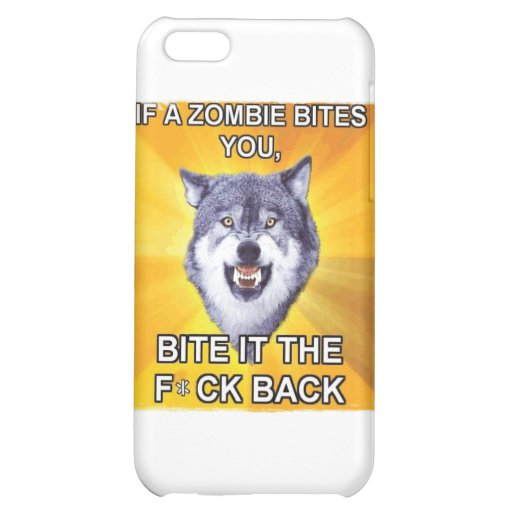 Courage Wolf Vs Zombies iPhone 5C Case