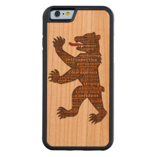 Courageous Bear Cherry iPhone 6 Bumper Case