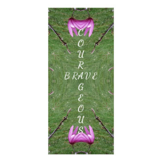 Courageous Brave Altered Magnolia Nature Symmetric Custom Rack Cards