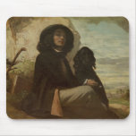 Courbet with his Black Dog, 1842 Mouse Mat
