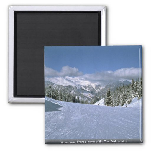 Courchevel, France, home of the Tree Valley ski ar Fridge Magnet