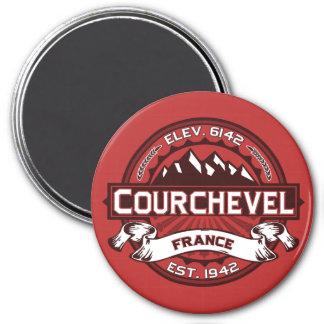 Courchevel Logo 7.5 Cm Round Magnet