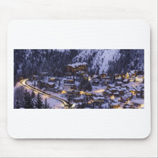 Courchevel Mountain Snow Mouse Pad
