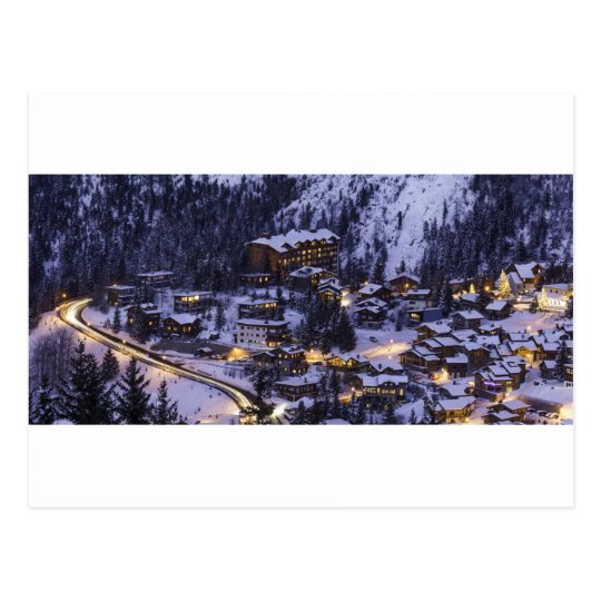 Courchevel Mountain Snow Postcard