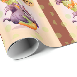 COURGETTE ALIEN HALLOWEEN CARTOON Wrapping Paper 2