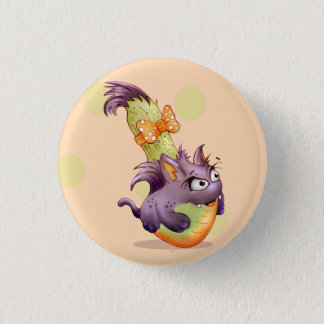 COURGETTE CAT HALLOWEEN CARTOON  Button small