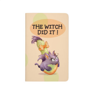 COURGETTE WITCH COOKIES  CARTOON Pocket Journal
