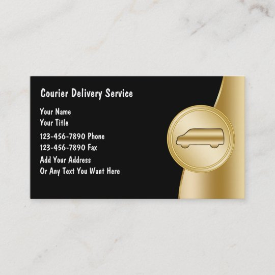 Courier delivery business cards zazzle courier delivery business cards reheart Image collections