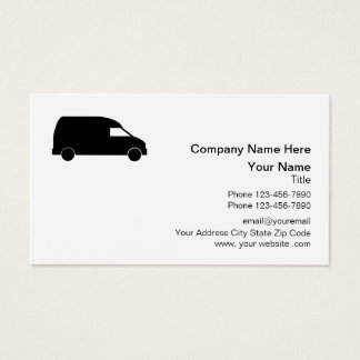 Courier Delivery Van Design Business Card