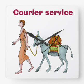 Courier service square wall clock