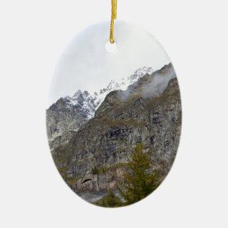 Courmayeur Landscape Christmas Ornament