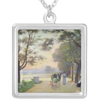 Cours-la-Reine, Paris Silver Plated Necklace