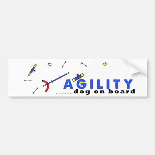 course agility dog on board bumper sticker