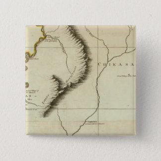 Course Of The River Mississipi 15 Cm Square Badge