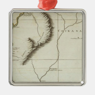 Course of the River Mississipi Christmas Ornament