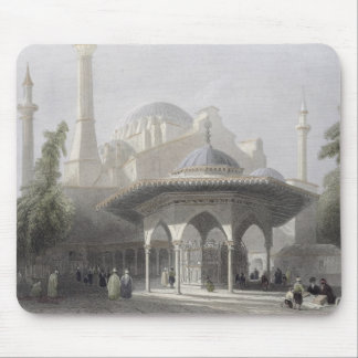 Court and Fountain of St. Sophia, Istanbul, engrav Mouse Mat