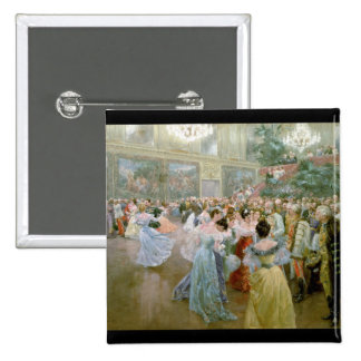Court Ball at the Hofburg, 1900 15 Cm Square Badge