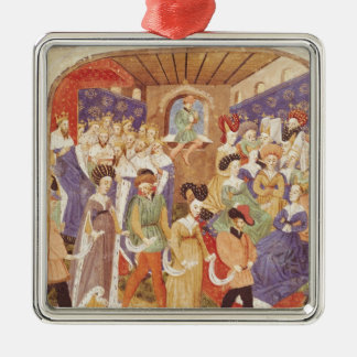 Court Ball, from the 'Roman du Saint Graal' Christmas Ornament