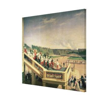 Court banquet in the Gardens of Schonbrunn Palace Canvas Print