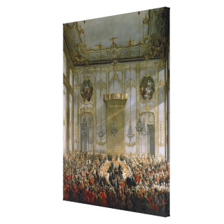 Court Banquet in the Great Antechamber Canvas Print