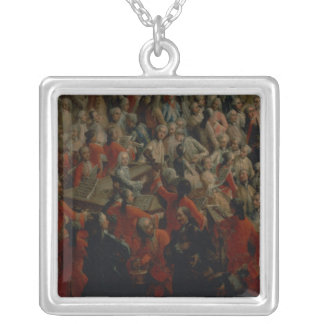 Court Banquet in the Great Antechamber Silver Plated Necklace