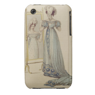 Court dress, fashion plate from Ackermann's Reposi Case-Mate iPhone 3 Case