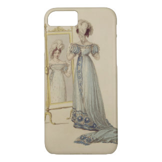 Court dress, fashion plate from Ackermann's Reposi iPhone 8/7 Case