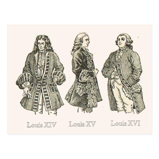 Court dress, Louis XIV, XV and XVI Postcard