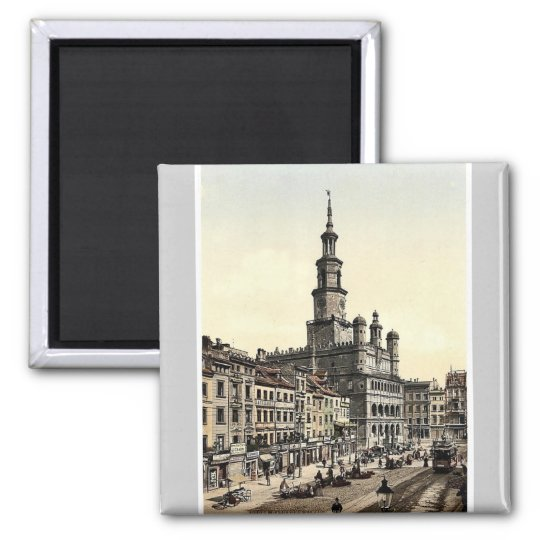 Court House and Old Market, Posen, Germany (i.e., Magnet