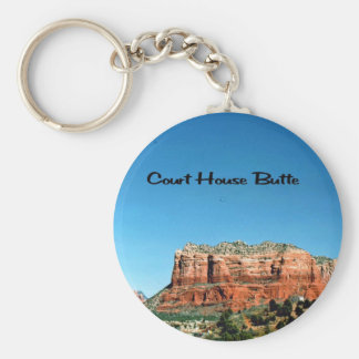 Court House Butte Basic Round Button Key Ring
