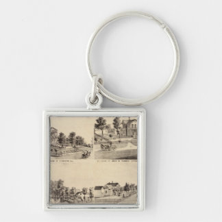 Court House of Stillwater, Minnesota Silver-Colored Square Key Ring