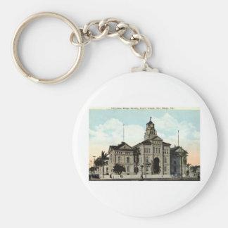 Court House San Diego California 1921 Basic Round Button Key Ring