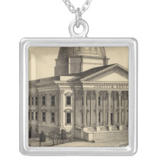 Court House, Santa Clara Co Silver Plated Necklace