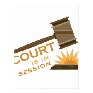 Court In Session Postcard
