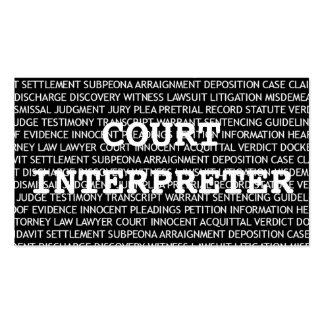 Court Interpreter Words Business Card
